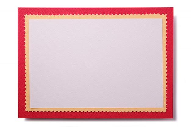 赤い枠付きのクリスマスカード