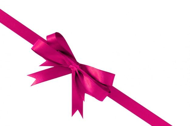 Розовый бант подарочная лента угол диагональ