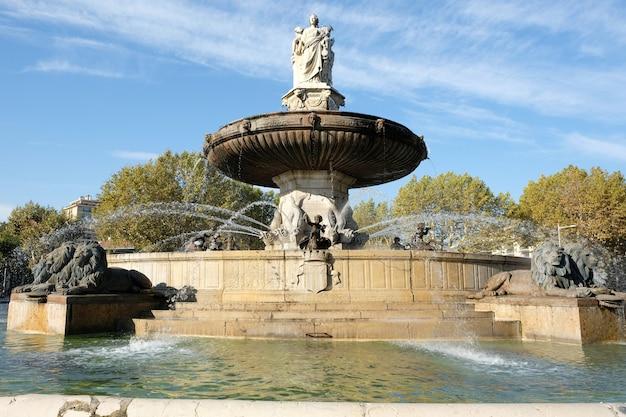 クールミラボー市場通りのふもとにある有名な噴水ロトンド