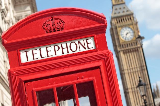 ロンドンの電話ボックスビッグベン