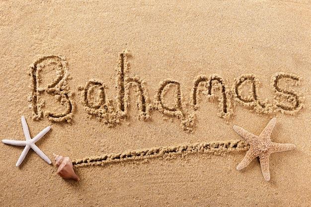 Багамские острова пляж песок знак сообщение