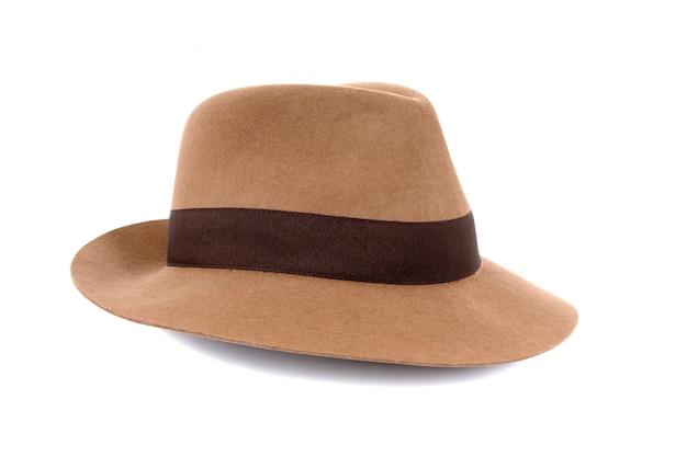 顔の毛の口ひげのフェドーラ帽