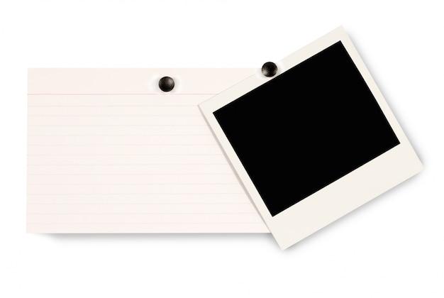 インデックスカード付きポラロイド写真