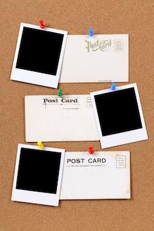 写真のプリントと古いポストカード
