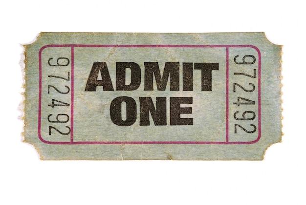 古い映画のチケット