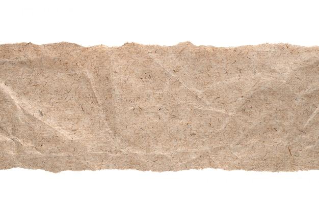 クラフト紙と引き裂かれたエッジの分離