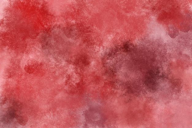 赤い血の水彩画の背景の壁紙の雲