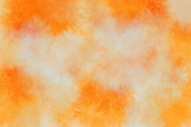 オレンジ色の水彩画の背景の壁紙の雲