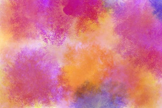 虹の水彩画の背景の壁紙クラウドマゼンタシアンピンク赤オレンジ黄色青