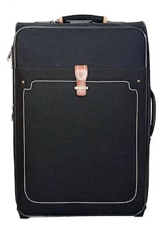 旅行や休息のための黒いスーツケース