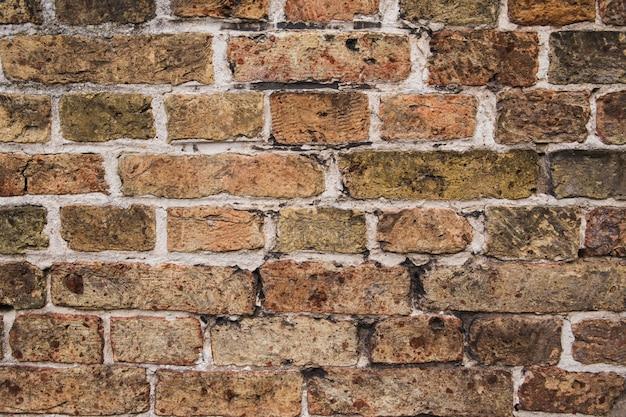 背景として古いレンガの壁のテクスチャ