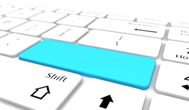 青い空白のキーボード入力ボタン