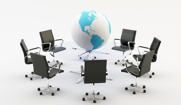 Стулья и офисный стол