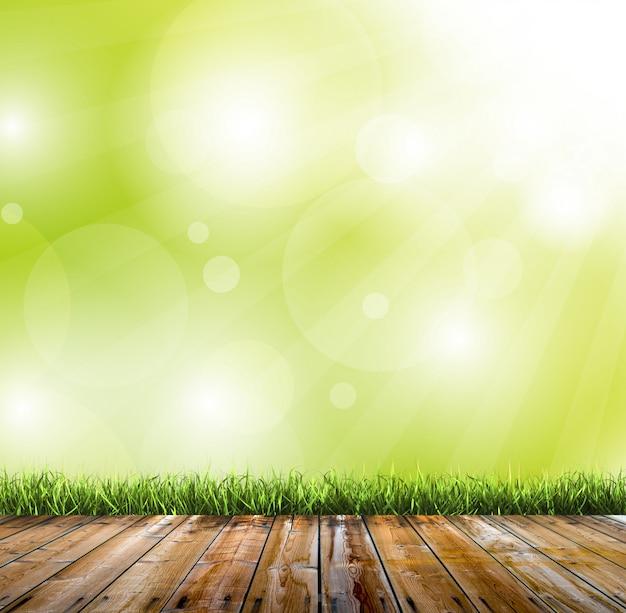 緑のボケの背景