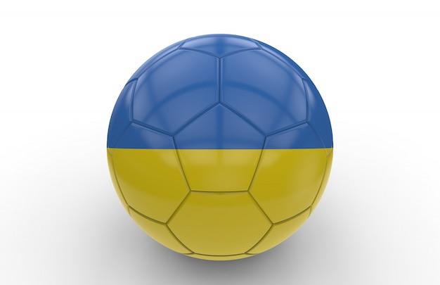 ウクライナの国旗とサッカーボール