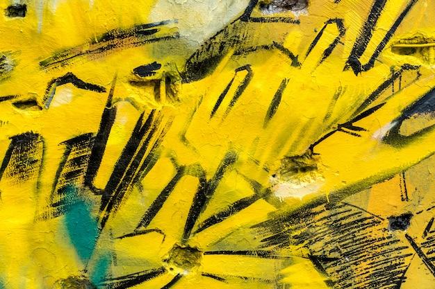 Уличное искусство, разноцветные граффити на стене