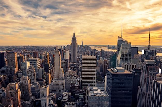 マンハッタンの夕日