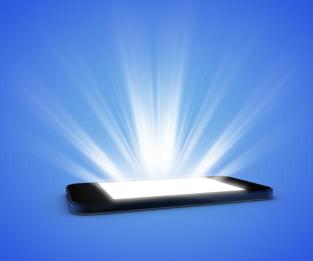 ライト付きスマートフォン