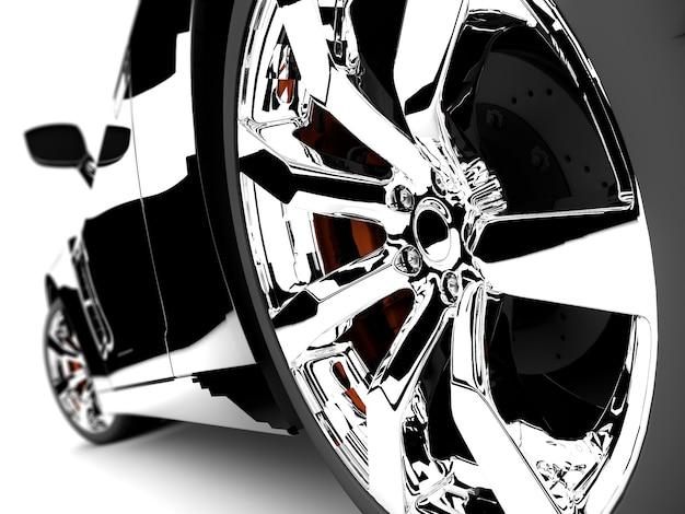 現代の黒い車