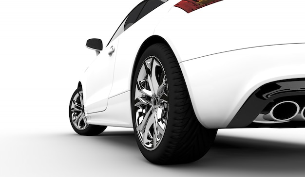 現代の白い車