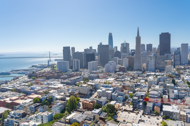 サンフランシスコのスカイライン空撮