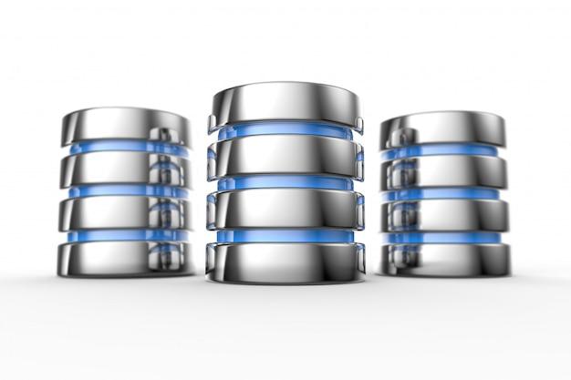 ハードディスクとデータベースのアイコン
