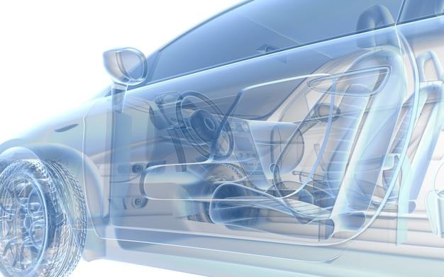 Синий рентгеновский автомобиль