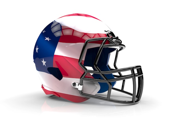 アメリカのアメリカンフットボールのヘルメット