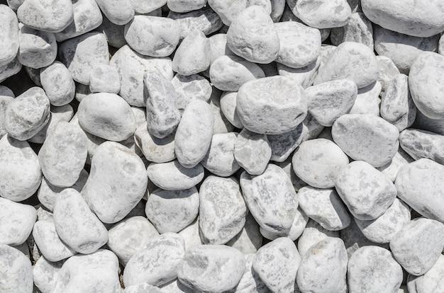 白い石の砂利の質感