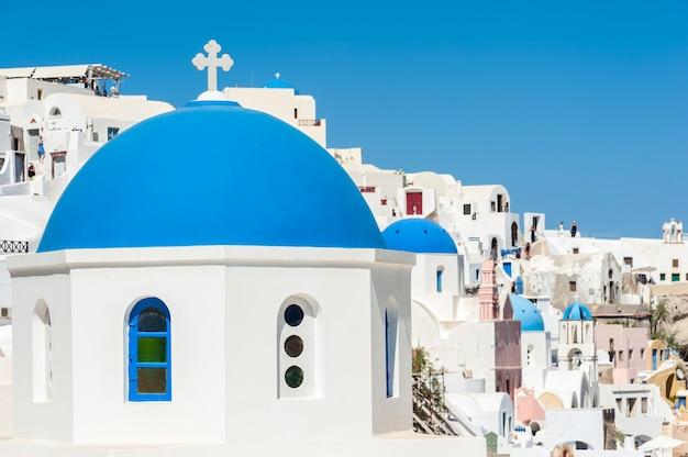 Голубые купола в ия - санторини