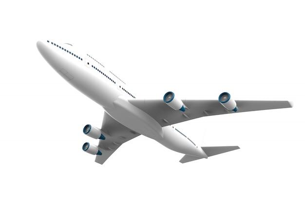白で隔離される飛行機の分離