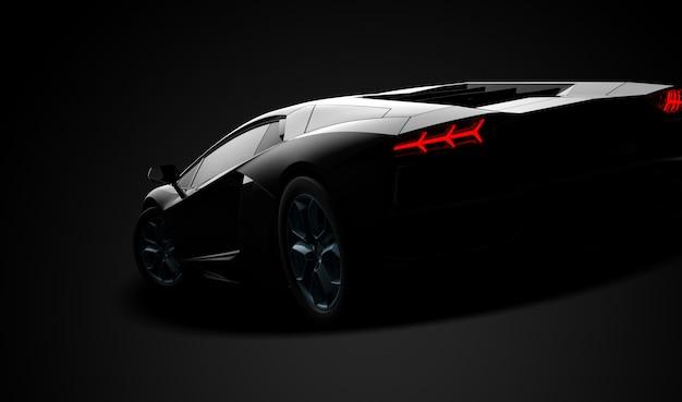黒の現代スポーツカー