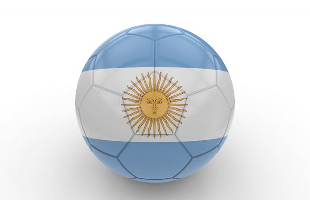 アルゼンチンの国旗とサッカーボール