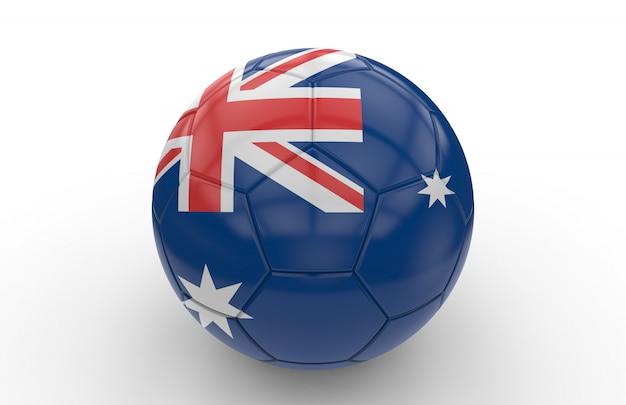 オーストラリアの国旗とサッカーボール
