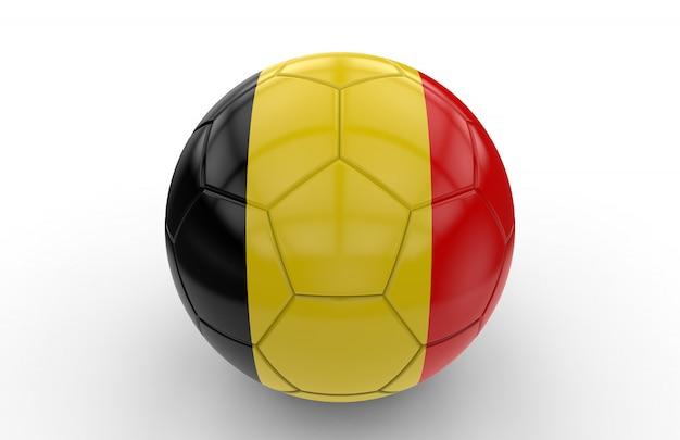 ベルギーの国旗とサッカーボール