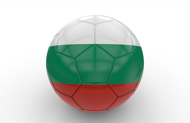 ブルガリアの国旗とサッカーボール