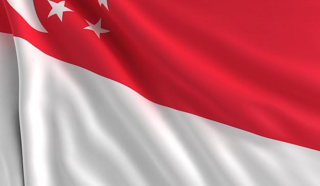 シンガポールの旗