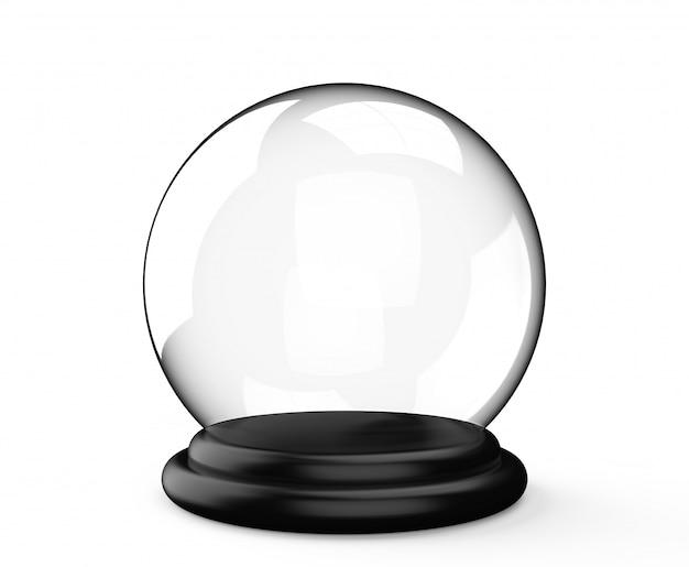 白い背景の上の魔法の水晶玉