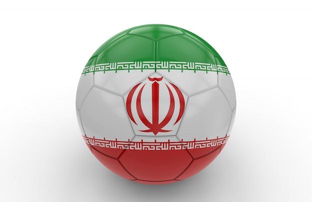 イランの国旗とサッカーボール