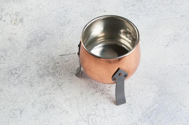 ヴィンテージ足銅鍋