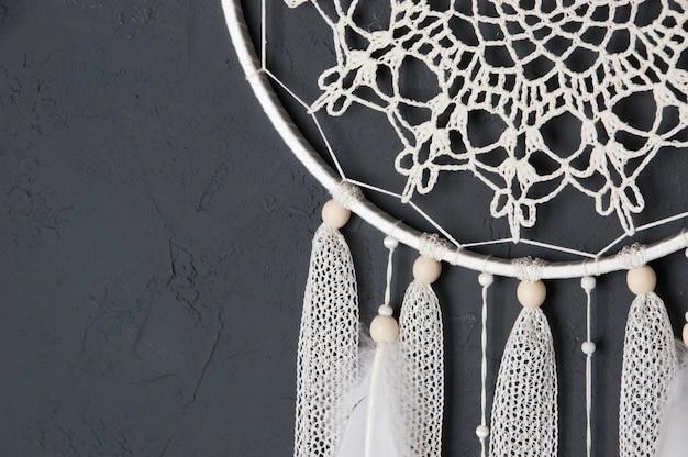 クリームかぎ針編みドイリードリームキャッチャー