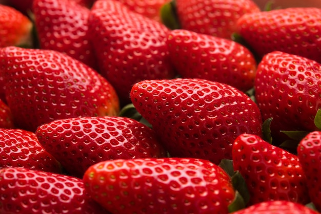 新鮮なイチゴのマクロ写真