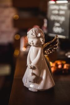 Стеклянная игрушка рождественский ангел