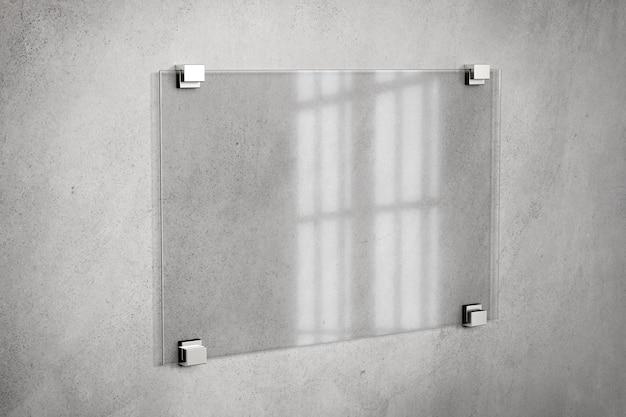 Макет таблички из стекла