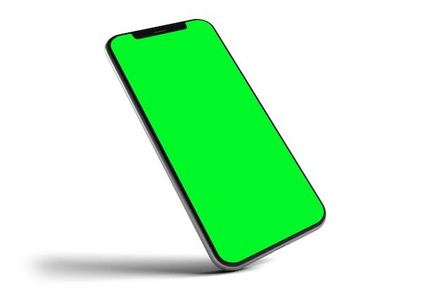 孤立したスマートフォンのモックアップ