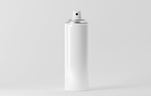 Аэрозольная бутылка на белом