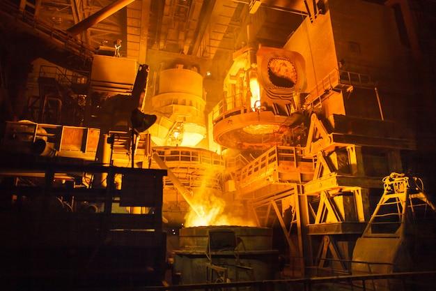 電気炉での製鋼