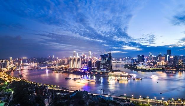 中国重慶市の美しい街並み