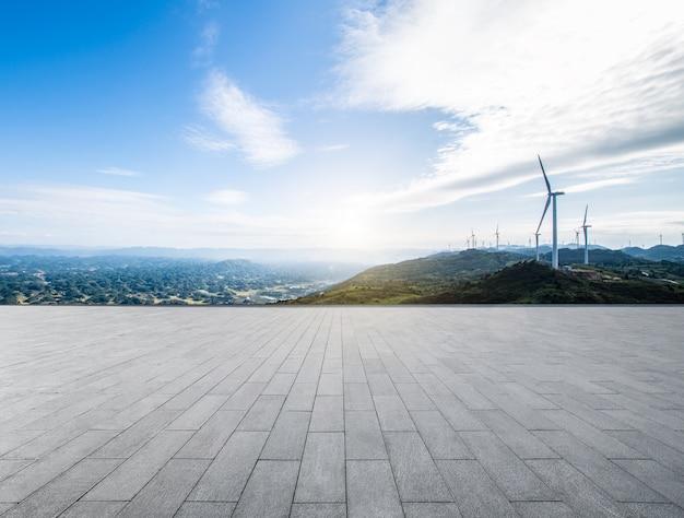 Ветряная мельница пейзаж
