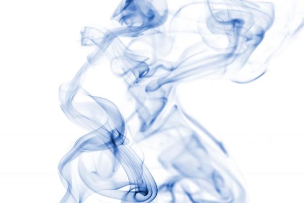 白い背景に青い煙のコレクション